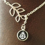 Anchor Monogram Necklace , 7 Best Engraved Anchor Necklace In Jewelry Category