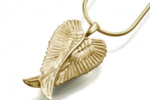 Jewelry , 8 Beautiful Keepsake Necklaces For Ashes : Angel Wings Keepsake Jewelry