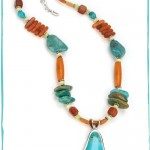 Barse Turquoise and Horn Necklace , 8 Popular Barse Turquoise Necklace In Jewelry Category