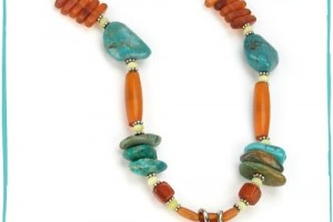 Jewelry , 8 Popular Barse Turquoise Necklace : Barse Turquoise and Horn Necklace