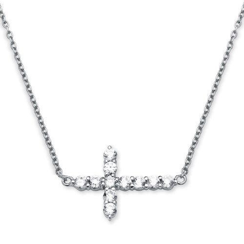 Jewelry , 8 Awesome Horizontal Cross Necklace Sterling Silver :  Beach Jewelry Sterling Silver