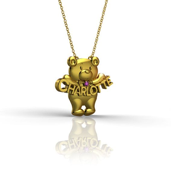 Jewelry , 8 Charming Nameplate Necklace Etsy : Bear Nameplate Necklace