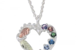 Jewelry , 8 Charming Birthstone Necklaces For Mothers : Birthstone Heart Necklace