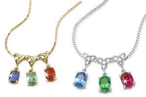 600x402px 9 Fabulous Grandchildren Birthstone Necklace Picture in Jewelry