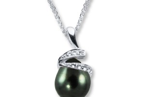 Jewelry , 8 Stunning Kay Jewelers Pearl Necklace : Black Cultured Pearl Pendant