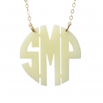 Block Monogram Necklace , 8 Best Acrylic Block Monogram Necklace In Jewelry Category