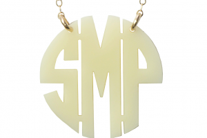 1133x1700px 8 Best Acrylic Block Monogram Necklace Picture in Jewelry