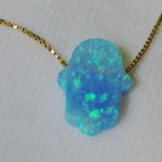 Blue Hamsa Necklace , 7 Excellent Blue Opal Hamsa Necklace In Jewelry Category