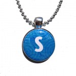 Blue Initial Pendant , 8 Gorgeous Interchangeable Magnetic Necklace In Jewelry Category