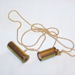 Brass Bullet Keepsake Pendant Necklace , 8 Beautiful Keepsake Necklaces For Ashes In Jewelry Category