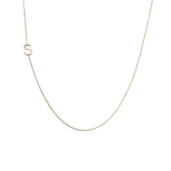 Jewelry , 7 Nice Maya Brenner Initial Necklace : Brenner Asymmetrical Initial Necklace