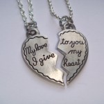Broken Half Heart Necklaces , 8 Fabulous Split Heart Necklaces For Couples In Jewelry Category
