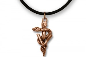 Jewelry , 8 Fabulous Veterinary Caduceus Necklace : Bronze Veterinary Caduceus Necklace