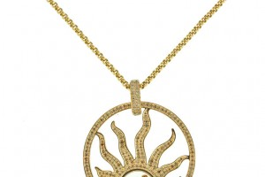 Jewelry , 8 Stunning Chopard Happy Diamonds Necklace : CHOPARD Diamond Happy Sun Necklace