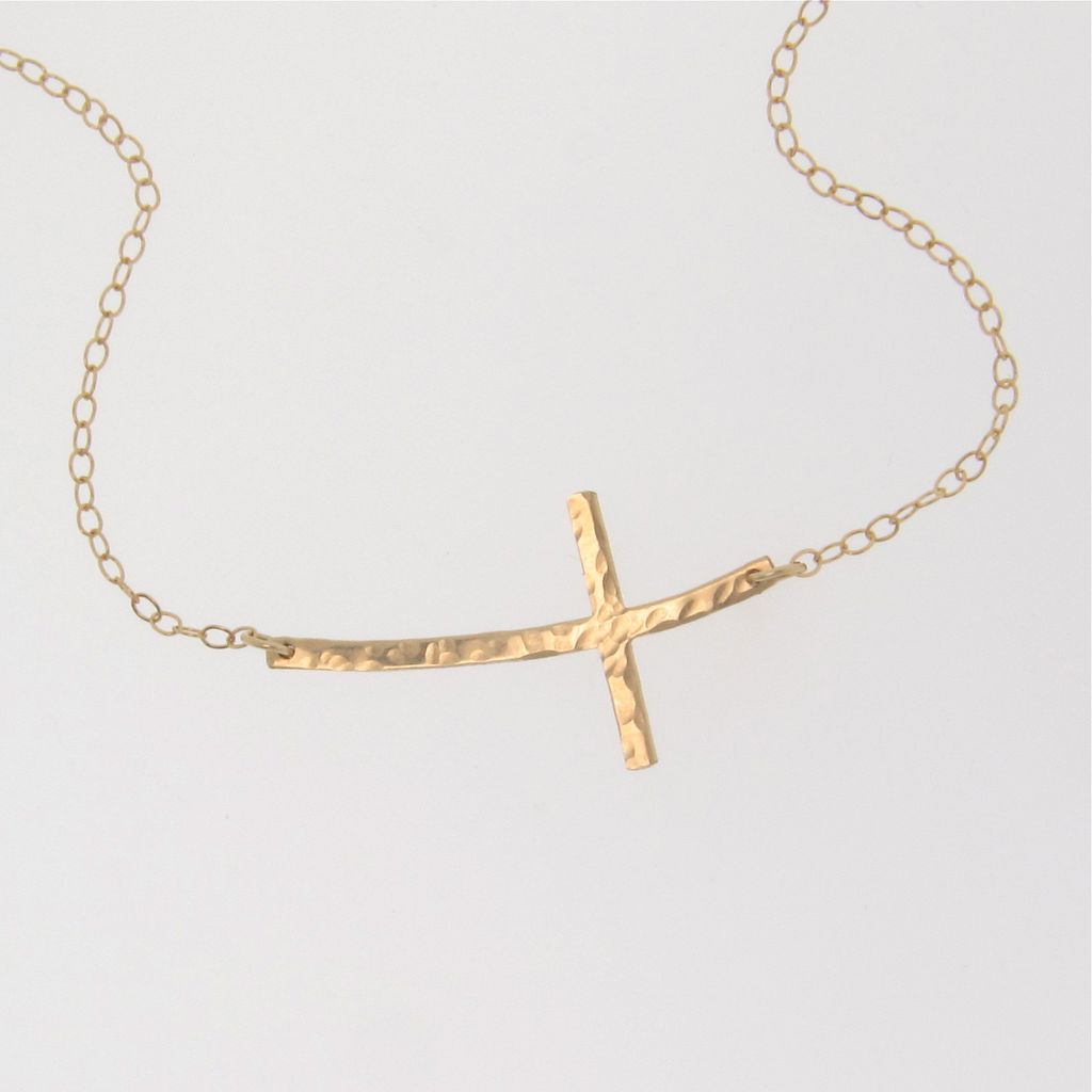 Gold cross necklace for women all collections of necklace curved sideways cross necklace 8 fabulous sideways gold cross aloadofball Gallery