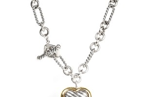 Jewelry , 7 Gorgeous David Yurman Heart Necklace : Cable Heart Figaro Necklace
