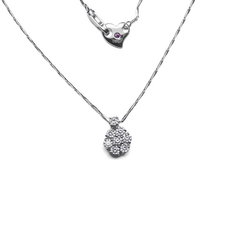 Jewelry , 8 Nice Roberto Coin Cento Necklace : Cento Flower Cluster Pendant