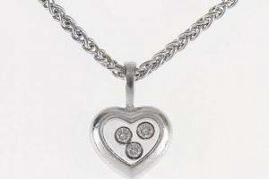 Jewelry , 8 Nice Chopard Floating Diamond Necklace : Chopard 18k White Gold