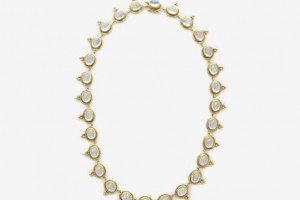 Jewelry , 9 Georgeous Temple St Clair Necklace : Clair Blue And Gold Necklace