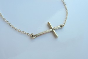 640x517px 8 Awesome Sterling Silver Sideway Cross Necklace Picture in Jewelry