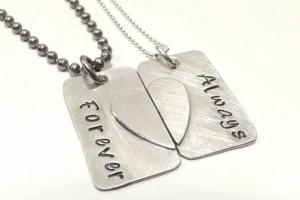 Jewelry , 8 Beautiful Broken Heart Necklaces For Couples : Couples Broken Heart Matching