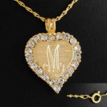 Crystal Heart Pendant Necklace , 8 Charming 14kt Gold Initial Necklace In Jewelry Category