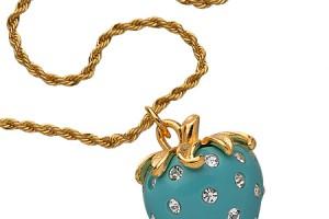 Jewelry , 8 Wonderful Kenneth Jay Lane Strawberry Necklace : Crystal Strawberry Necklace