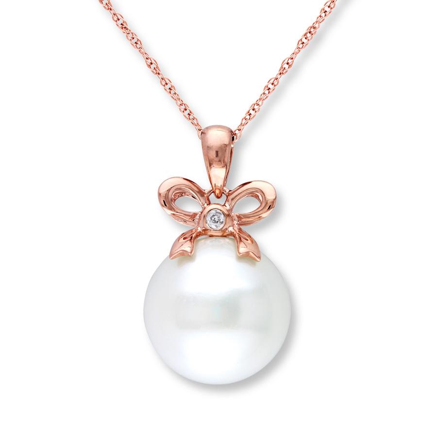 Cultured Pearl Necklace Diamond : Woman Fashion
