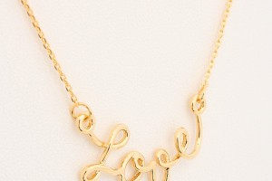 Jewelry , 8 Gorgeous Cursive Love Necklace : Cursive Love Necklace