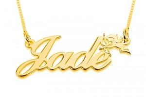800x600px 8 Nice Gold Cursive Name Necklace Picture in Jewelry