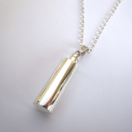 Cylinder Pendant , 9 Awesome Necklace Urns For Ashes In Jewelry Category