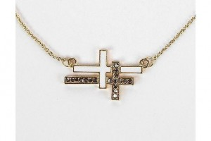 Jewelry , 8 Awesome Cross Necklaces For Women Sideways : Daytrip Sideways Cross Necklace