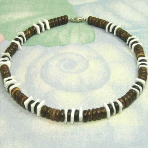 Jewelry , 6 Stunning Puka Shell Necklace For Men : Designer Puka Shell Necklaces