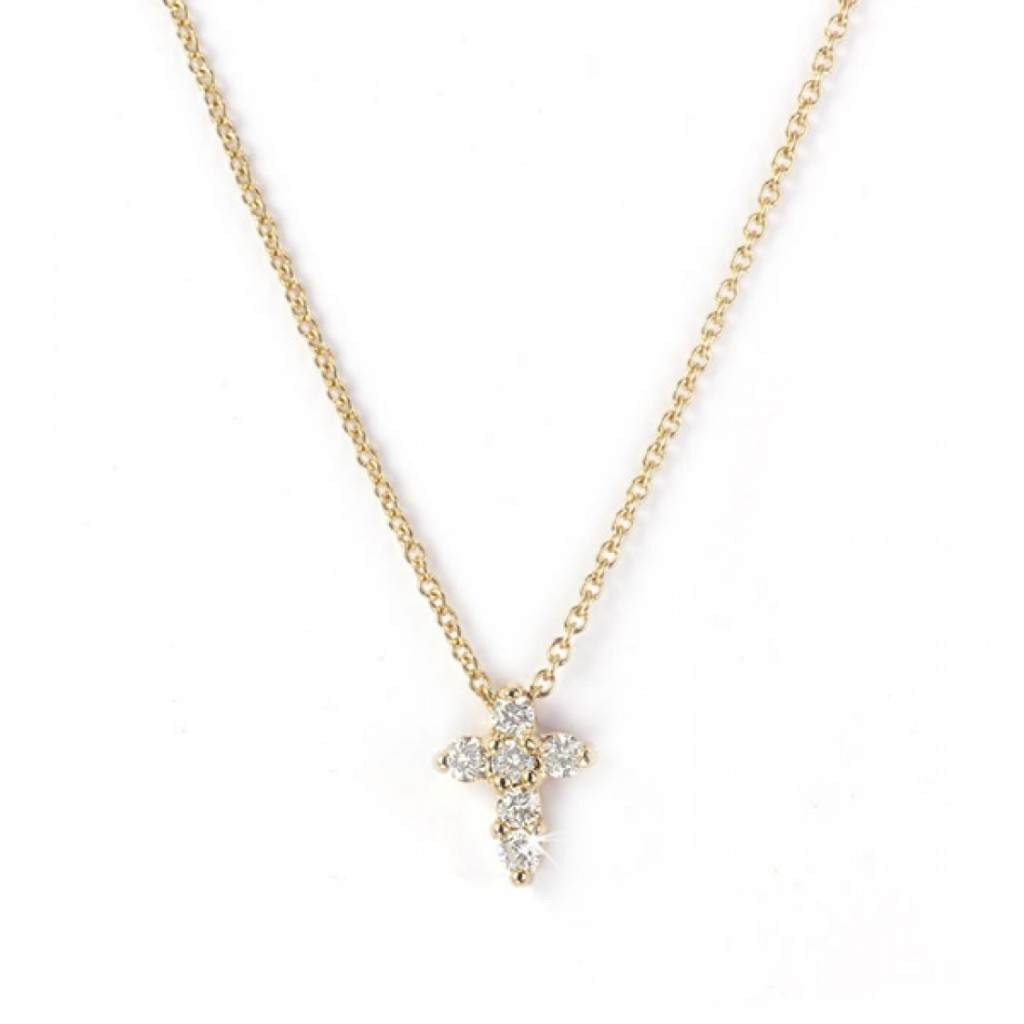 7 Nice NRoberto Coin Baby Cross Necklace in Jewelry