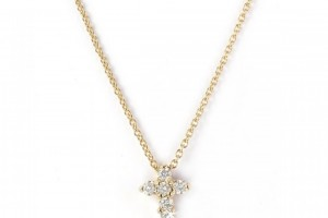 Jewelry , 7 Nice NRoberto Coin Baby Cross Necklace : Diamond Cross Pendant