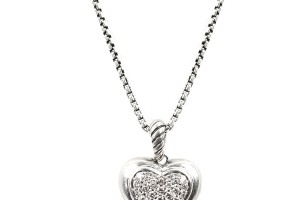 Jewelry , 7 Gorgeous David Yurman Heart Necklace : Diamond Heart Necklace
