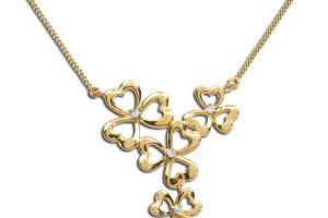 Jewelry , 8 Charming Diamond Shamrock Necklace : Diamond Shamrock Necklace