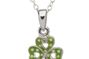 Jewelry , 8 Charming Diamond Shamrock Necklace : Diamond Shamrock Pendant