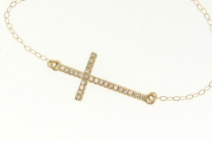 Jewelry , 8 Stunning Sideways Cross Necklace Kelly Ripa : Diamond Sideways Cross Necklace