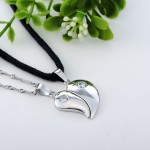 Diamond Split Heart Pendant , 8 Fabulous Split Heart Necklaces For Couples In Jewelry Category