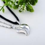Diamond Split Heart Pendant , 8 Fabulous Split Heart Necklaces For Couples In Jewelry Category