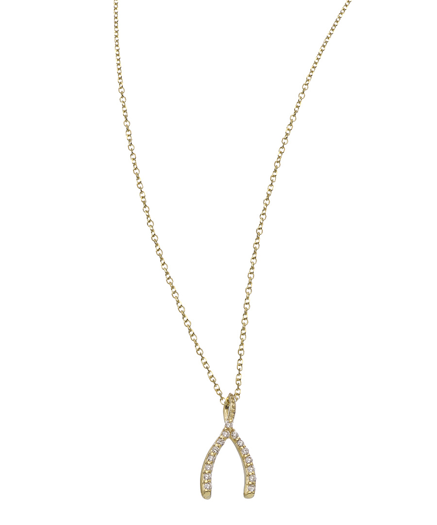 8 Stunning Diamond Wishbone Necklace in Jewelry