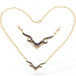 Diamond and Sapphire Wishbone Necklace , 8 Stunning Diamond Wishbone Necklace In Jewelry Category