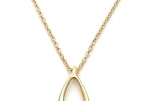 Jewelry , 5 Top Dogeared Wishbone Necklace : Dipped Wishbone Necklace