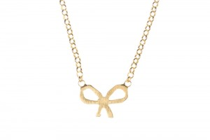 Jewelry , 6 Fabulous Dogeared Bow Necklace : Dogeared Whispers Gold