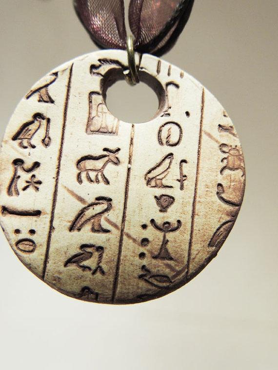 Jewelry , 8 Georgeous Hieroglyphic Necklace Personalized : Egyptian Hieroglyphic Necklace