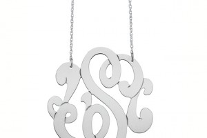 Jewelry , 6 Charming Swirly Initial Necklace : Emily Medium Swirly Initial Pendant