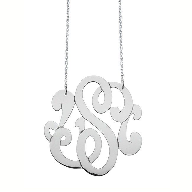 6 Charming Swirly Initial Necklace in Jewelry