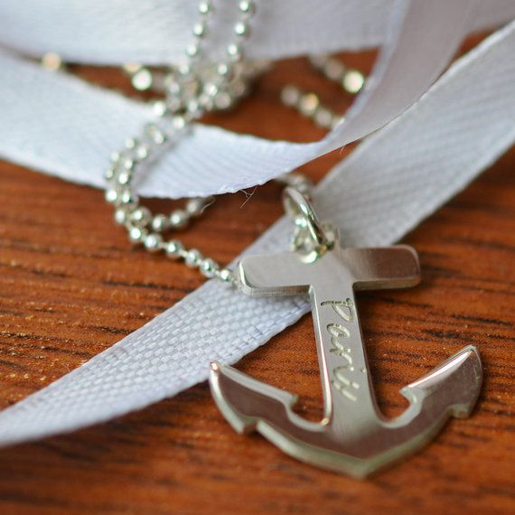 7 Best Engraved Anchor Necklace in Jewelry