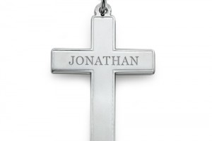 Jewelry , 7 Fabulous Engravable Cross Necklace For Men : Engraved Cross Necklace for Men